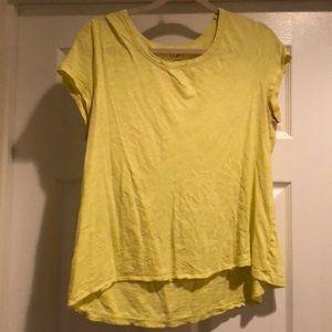 Loft, highlighter yellow cotton T-shirt